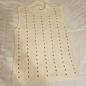 Beige patterned blouse